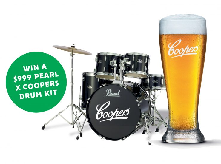 Win a Coopers Drum Kit